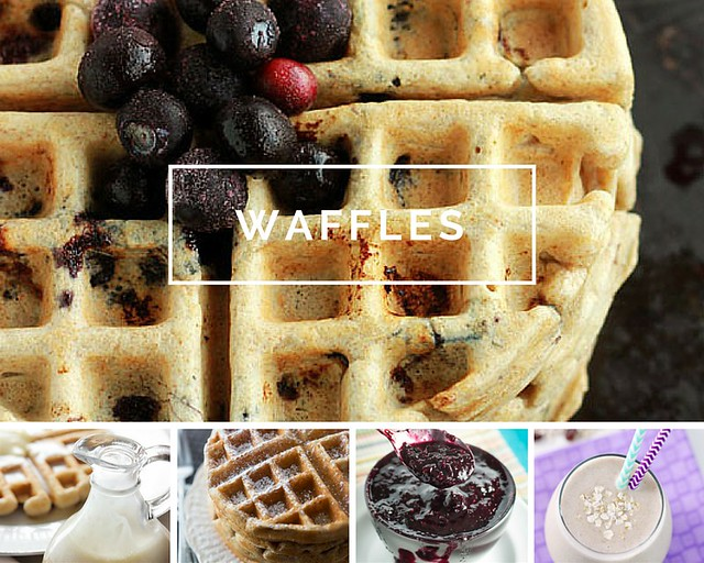 Virtual Waffle/Crepe Bar // 10 recipes that will help you create the perfect breakfast or brunch experience! | Need inspiration on how to host a delicious breakfast or brunch? These 10 recipes are not only tasty, they are ALL easily made in a blender! Mak