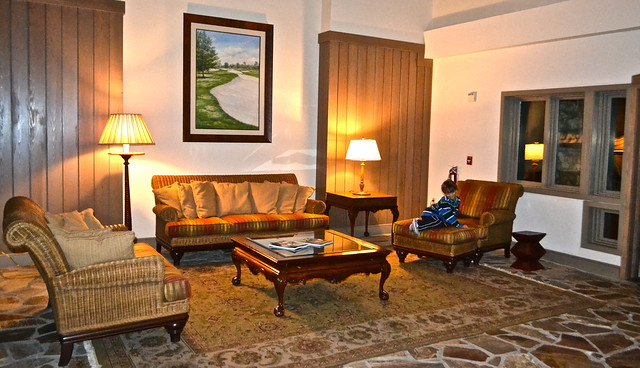 lounge area Bay Hill Golf Resort in Orlando Florida