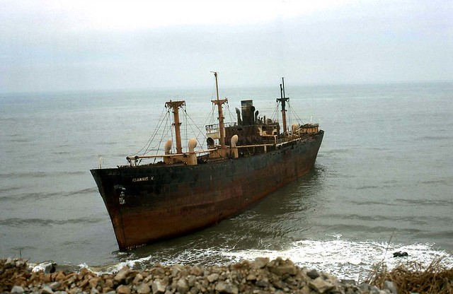 Shipwreck at Back Beach Vung Tau 1968 - Photo by Bob McKenna (128)