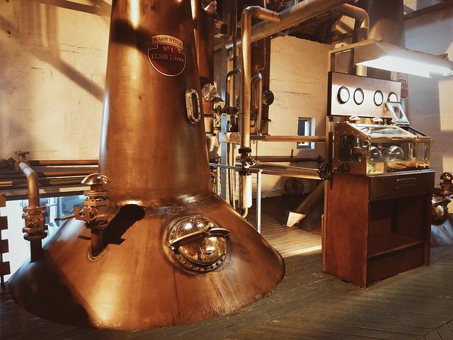 The original 1881 wash still at Bruichladdich distillery, Islay
