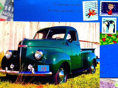 Studebaker Pickup postcard - South Bend, Indiana