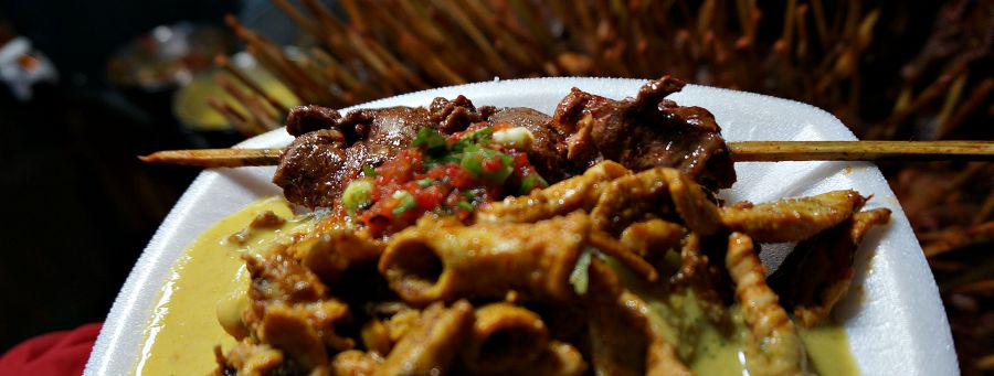 Grilled Anticuchos Corizon and Tripe