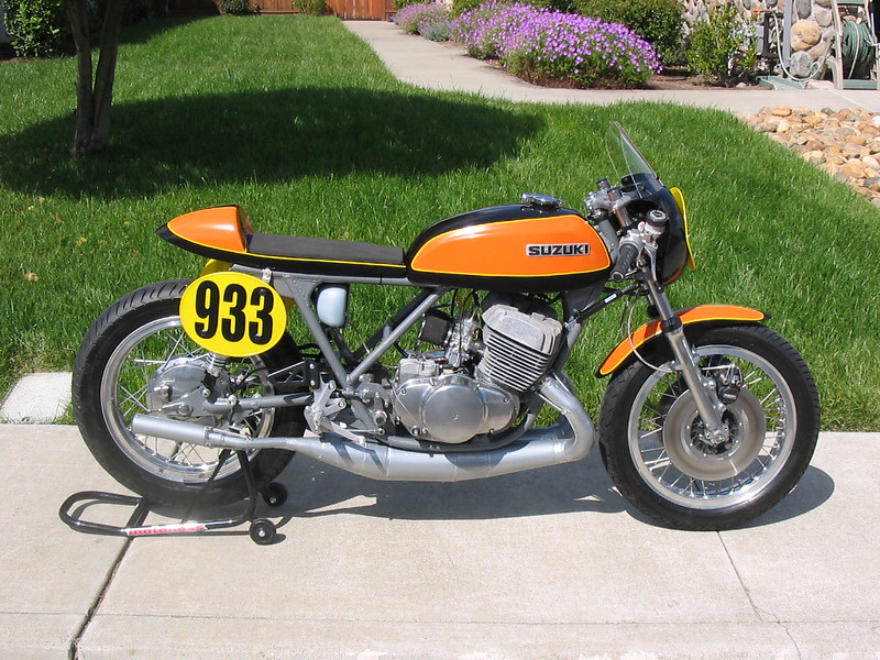 1975 suzuki t500 repli-racer build progress
