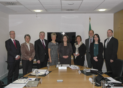 L-R is Dr. Moling Ryan, Maureen Lynott, Patrick Costello, Judith Gillespie, Josephine Feehily, Valerie Judge, Bob Collins, Dr. Vicky Conway, and Noel Brett.