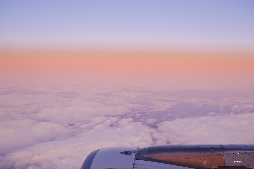Sunrise on the flight