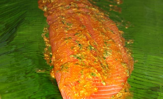 Salmon a la hoja de bananero (14)