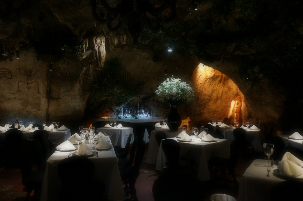 Great lighting, great food, good company and a cave