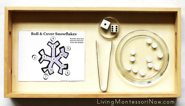 Roll-and-Cover Snowflake Addition Activity