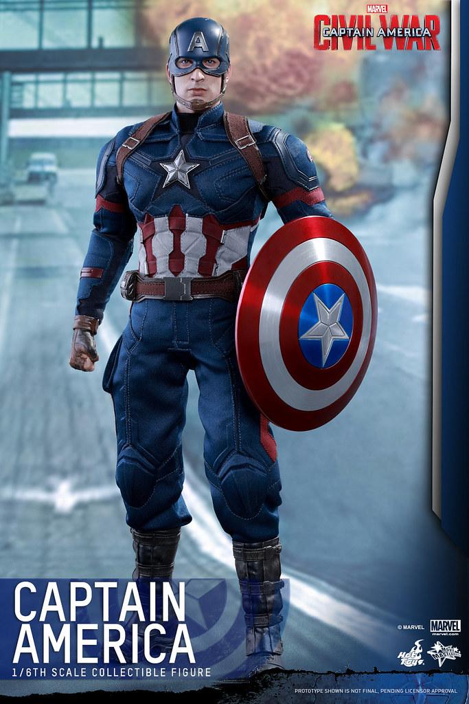 Hot Toys – MMS350 – 美國隊長3:英雄內戰【美國隊長】Captain America 1/6 比例人偶作品