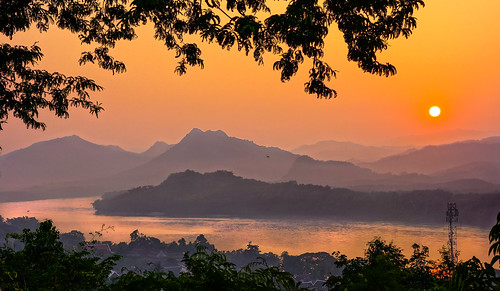 travel sunset river sony laos mekong luang prabang sonyrx100