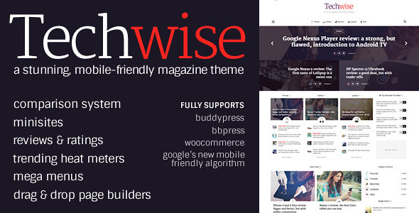 Techwise - Drag & Drop Magazine w/ Comparisons v1.1