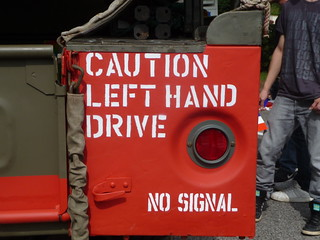 Caution left hand drive no signal