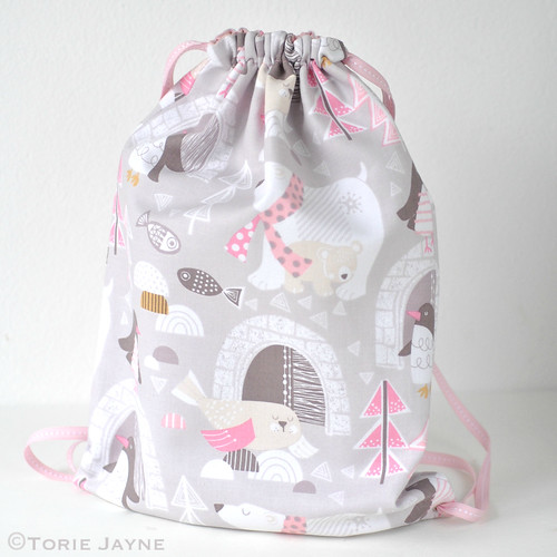 Toddler Girls Drawstring Backpack Sewing Tutorial | Torie Jayne