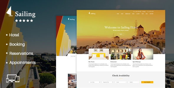 Themeforest Sailing v1.8 - Hotel WordPress Theme