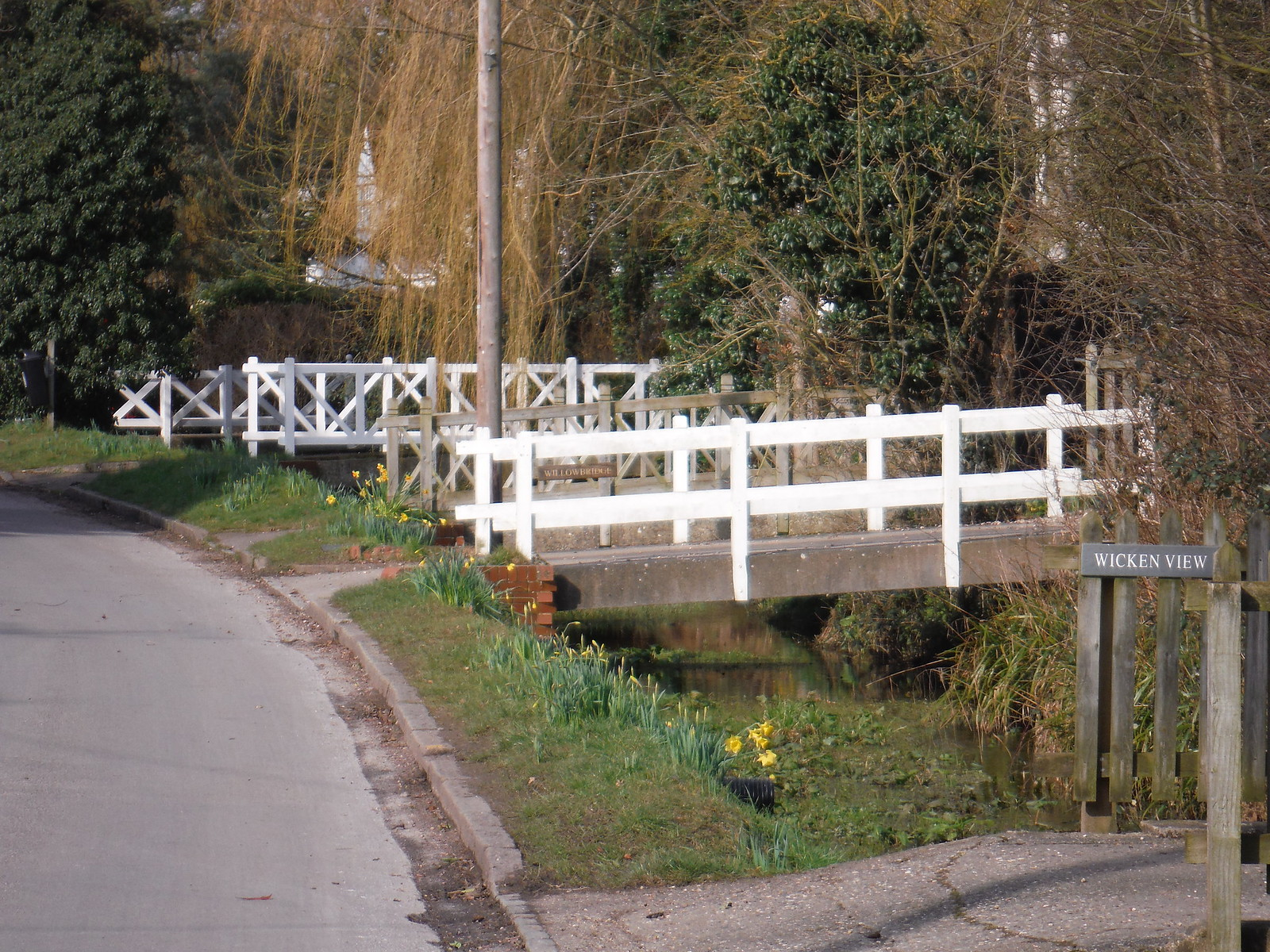 Bridges over Wicken Water, Arkesden SWC Walk 116 Wendens Ambo [Audley End station] Circular