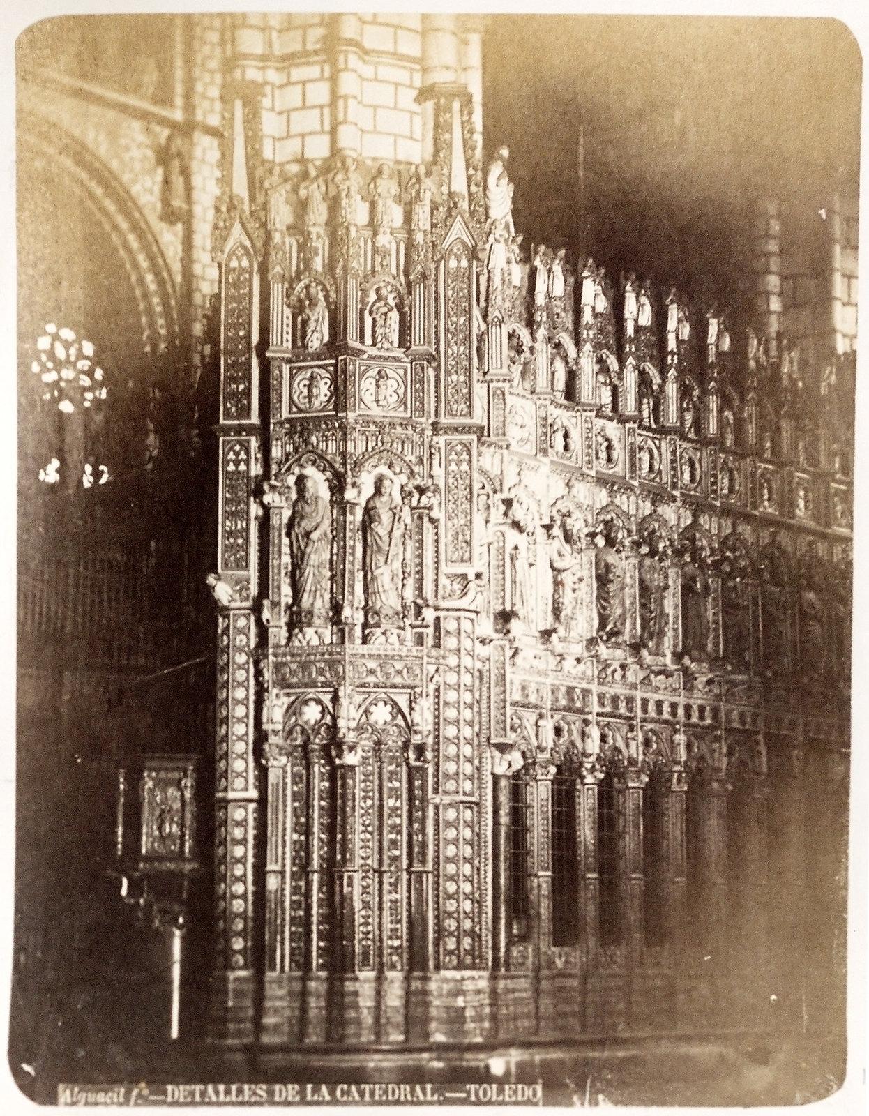 Catedral de Toledo hacia 1879. Álbum de la National Gallery con fotos de Casiano Alguacil.