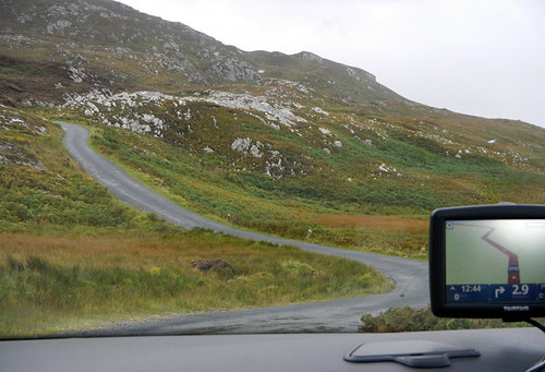 A drive along a narrow road on the Inishowen Peninsula in Ireland
