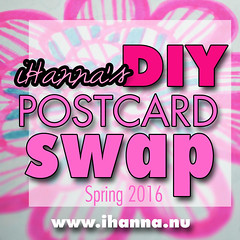 iHanna's DIY Postcard Swap opens twice a year and it is super fun! Join the Spring Swap 2016 at at www.ihanna.nu/postcard-swap/