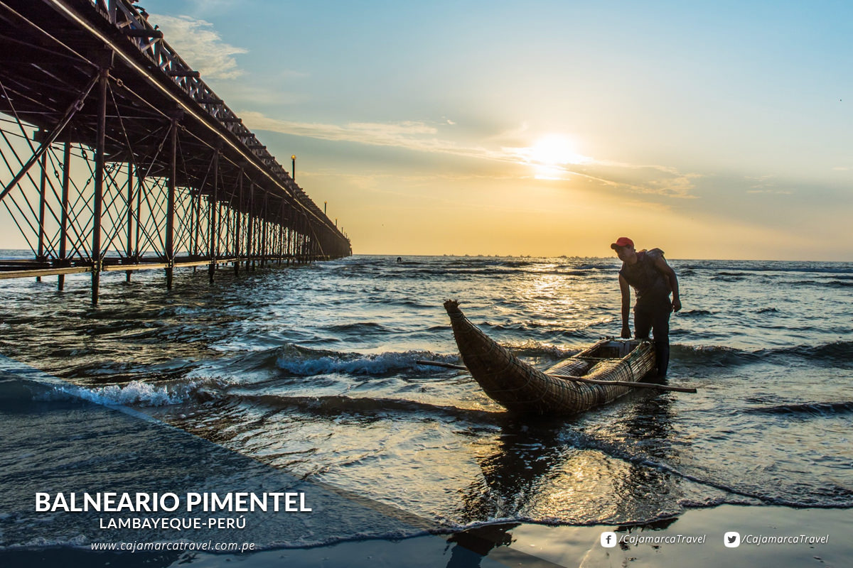 Pimentel es el balneario más atractivo de la zona.