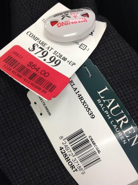 Lauren Ralph Lauren西服原价120美元以上,现价64美元