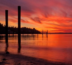 Here's another one for today because someone requested a #sunset photo. I haven't seen anything like this in #Seattle for a while but I'm counting on some impressive sunsets this summer! This one was from many years ago at my favorite little beach in #Bal