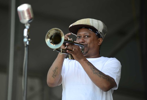 Kermit Ruffins & the BBQ Swingers Day 1 of Jazz Fest 2016. Photo by Leon Morris.