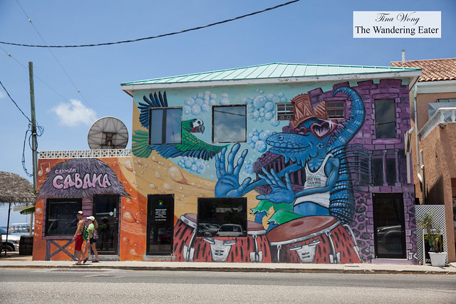 A building in George Town painted by a local Cayman artist
