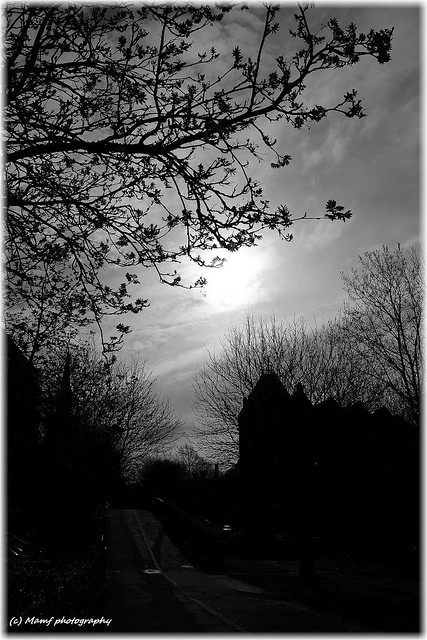 Shining sun over the city of Leeds.