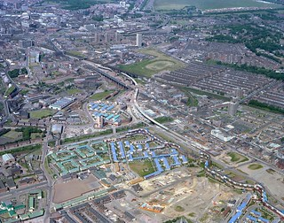 Aerial view of Byker, 1978