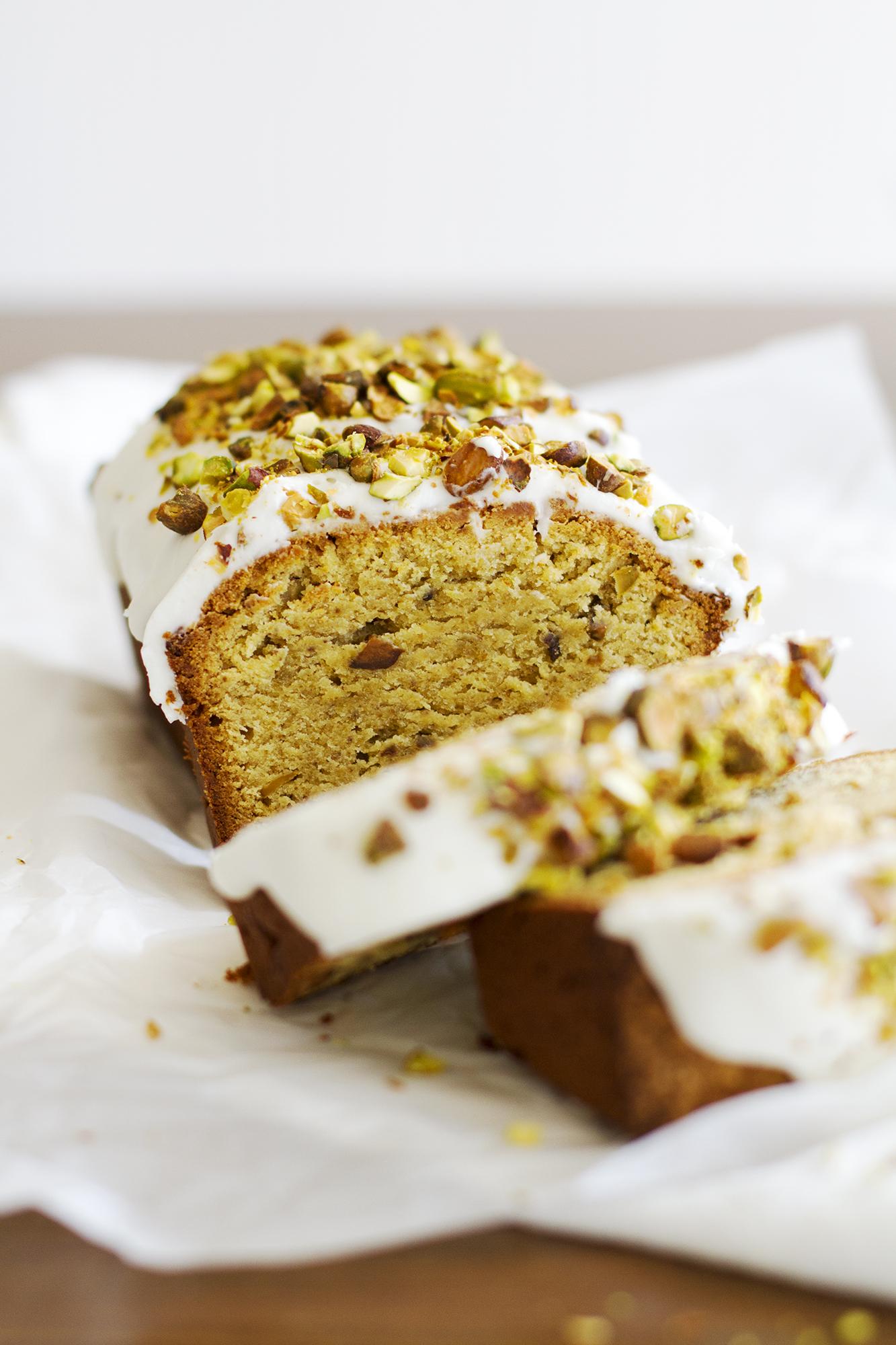 Gluten Free Pistachio Pound Cake | girlversusdough.com @girlversusdough