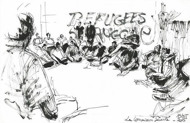 La Commission Sécurité. Occupation de J. Quarré