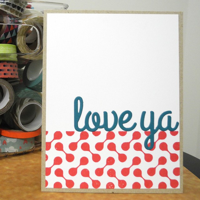Love Ya by Jennifer Ingle #JustJingle #cards #love #CASualFridaysStamps