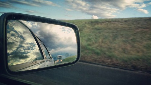 View from the passenger seat on I-76. #clouds #pennsylvania