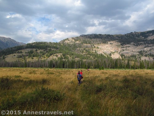 Hiking the Porcupine Trail, Green River Lakes, Wind River Range, Wyoming