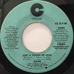 SLAVE:JUST A TOUCH OF LOVE(LABEL SIDE-A)