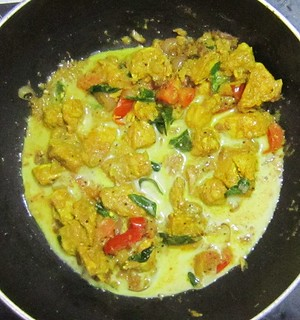 Chicken Mappas-Add coconut milk