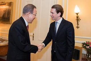 UN Secretary-General Ban Ki-moon in Vienna