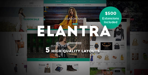 ThemeForest Elantra - Advanced Responsive Magento Theme