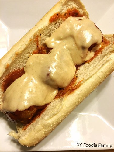 Meatball Subs with Parmesan White Cheddar Queso