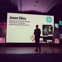 @JasonSilva de la serie  Brain Games de @NatGeo hablando de innovación y romper límites... #SecurePrinting
