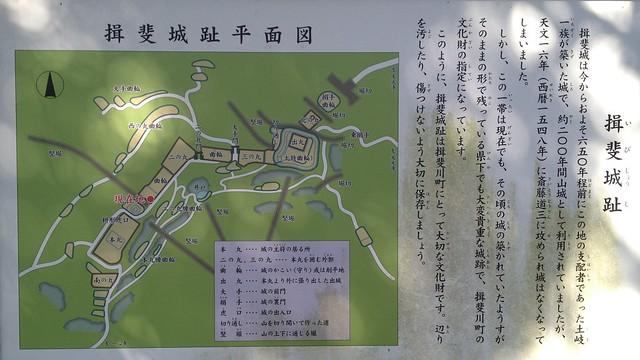 城台山 揖斐城址 平面図