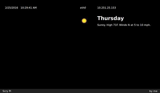 scry-pi dashboard screenshot