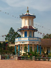 Pagoda at Cao Dai Holy See in Tay Ninh
