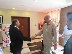 Jahangir Piracha greeting Mr. Carsten at Engro Powergen Qadirpur Plant