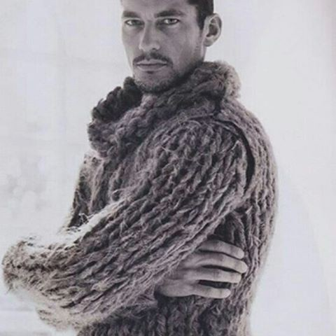 36 years, David Gandy http://birthdaysoffmag.blogspot.com.es/2016/02/david-gandy.html  After winning a television modeling competition at the age of 21, David Gandy was signed to Select Management in London. Selected as the lead male by Italian designers