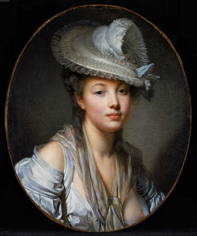 Jean-Baptiste Greuze - The White Hat (c.1780)