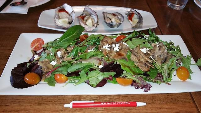 2016-Mar-9 Kosoo - oysters, mushroom salad