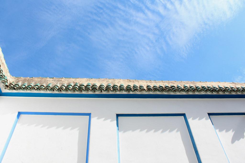 Morocco blue sky