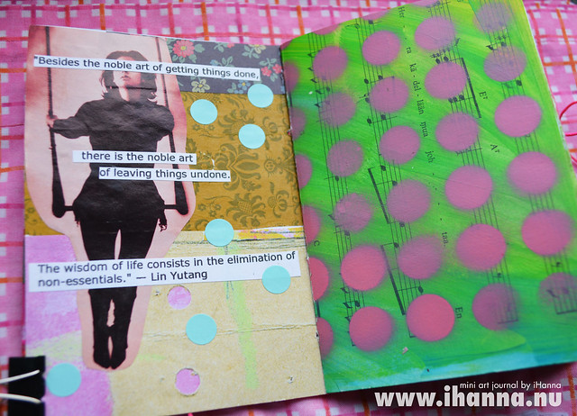 Mini Art Journal Quote Page - created by iHanna