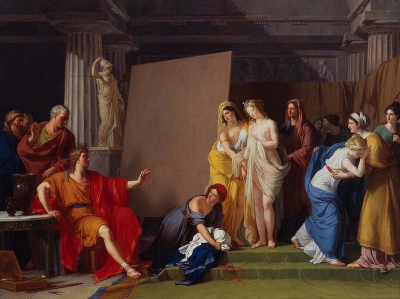 François-André Vincent - Zeuxis Choosing his Models for the Image of Helen from among the Girls of Croton (c.1790)